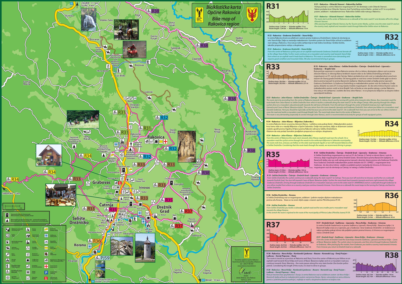 Nationalpark Plitvicer Seen Karte.Radfahren Imanje Vita Natura
